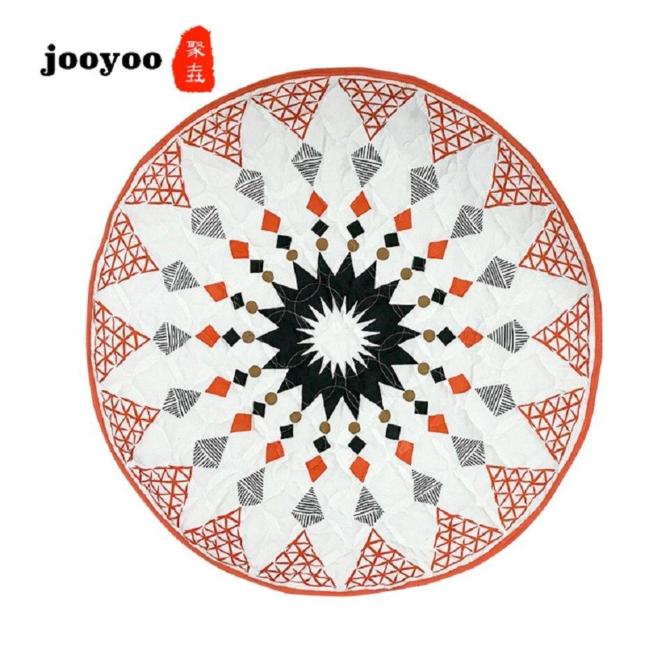 Nouveaux tapis ronds géométriques pour salon bébé tapis rampant chambre d'enfants tapis de jeu décoratif tapis de jeu