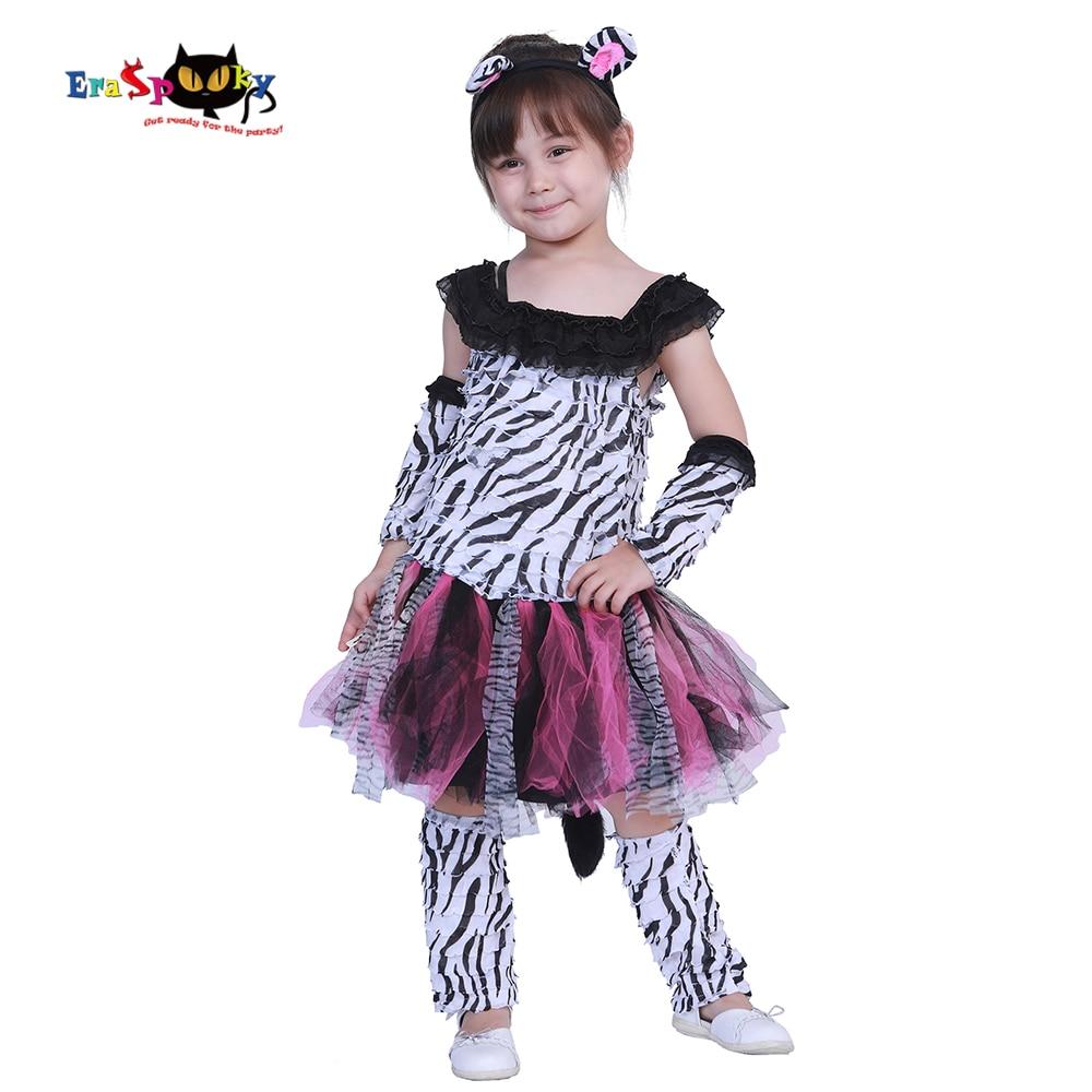 Eraspooky Halloween Costume For Kids Girl Zebra Costume