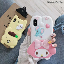 My Melody, Pompompurin Case with strap For iPhone X XS MAX XR 6 6s 7 8 Plus
