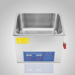 Professional Powerful Stainless Steel Ultrasonic Cleaner 10L Liter 240+250W Digital Timer Heater