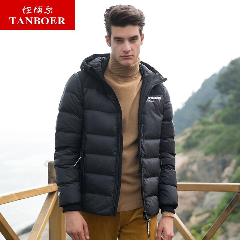 TANBOER men's   down   jacket light winter   coats   male slim duck   down     coats   short style windproof winter jackets keeping warm TA18357