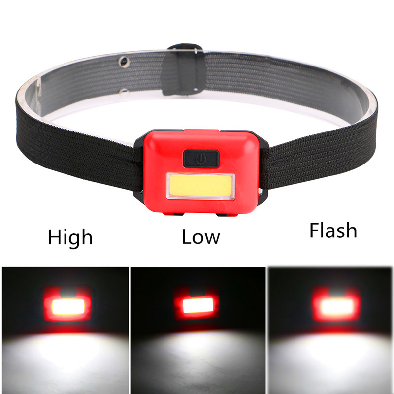COB LED Mini Headlamp Headlight 3 Modes Rainproof Head Torch Flashlight Head Lanterna For Outdoor Camping Fishing Use 3*AAA Q5 usb rechargeable headlight cob led headlamp 3 modes head torch flashlight for camping use 2 18650 batteries