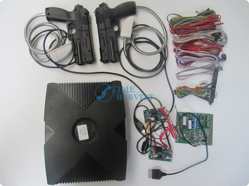 1 set of The House of Dead 3 Shooting Game Kit for Shooting Game Simulator Machine Amusement firing game CGA monitor cabinet [cheneng]mean well original rsp 100 48 48v 2 1a meanwell rsp 100 48v 100 8w single output with pfc function power supply