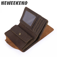 Men's classic Vintage Real Leather Purse with Coin Pocket Ra