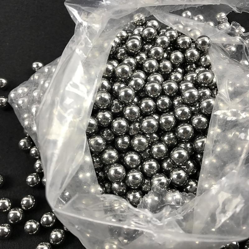 200pcs / lot 6mm slingshot medžioklės šaudymo slingshot aukšto anglies plieno kamuoliukus katapulta slingshot pataikyti ammo plieno kamuolys lauke