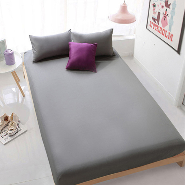 Delightful Polyester Fitted Sheet Printing Cotton Bed Sheets Comfort Mattress Cover Bedding  Linens Bed Coverlet Set Full
