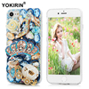 YOKIRIN Bling Rhinestone Case For iPhone 7 Luxury 3D Handmade Diamond Glitter Crystal Hard PC Clear Back Cover For iPhone 7