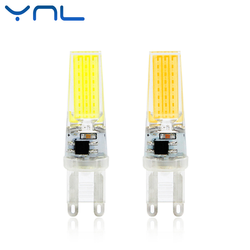 YNL LED Lamp G9 6W Dimmable COB AC 220V Mini COB LED G9 Bulb 360 Beam Angle Replace Halogen Crystal Chandelier G9 LED Lights top quality 1508 cob g9 2w 220v dimmable corn light bulb led chandelier crystal lamp art galleries crystal lamps
