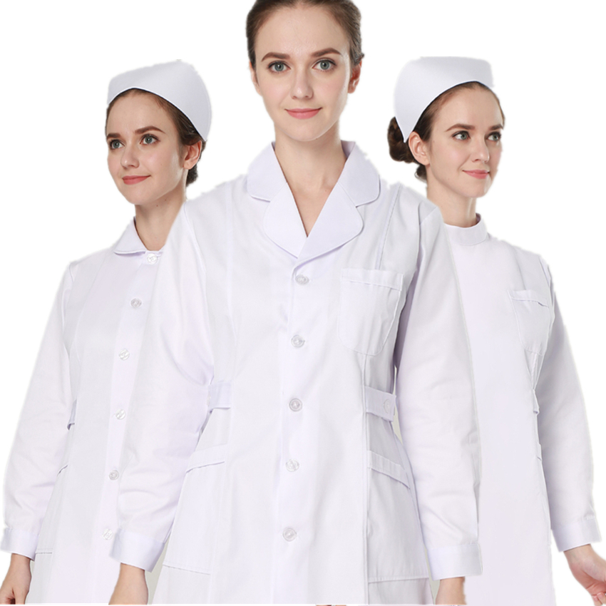 16Color Nurse Uniform Woman Medical Clothing Long&Short Sleeve Lab Coat+Surgical Cap Work Wear Medical Women Uniform All Season
