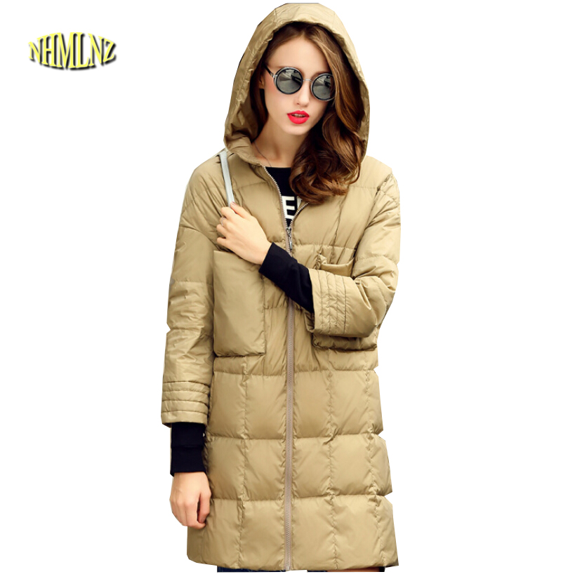 Korean New Style Fashion Women Winter Coat Elegant Hooded Thick Super Warm Down jacket Slim Big yards Leisure Women Coat G2249 squirrel fashion rivet punk nylon with leather english style girls backpacks doodle classic vogue popular cute women travel bag