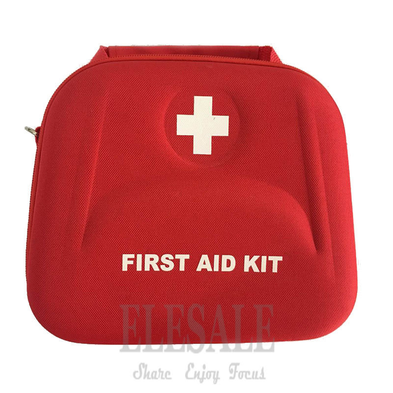 Portable First Aid Kit Bag Water Resistant Emergency Kit Bag Shoulder Strap For Hiking Travel Home Car Emergency Treatment