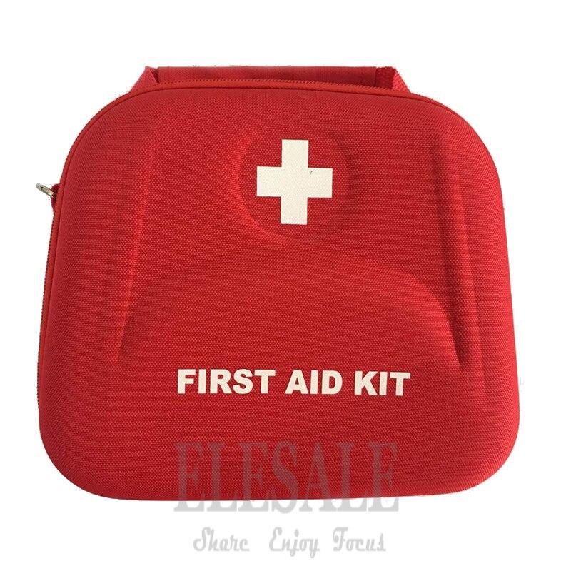Kit de primeiros socorros portátil saco resistente à água kit de emergência alça de ombro para caminhadas viagem casa tratamento emergência carro
