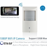 ANTS 1080P PIR Style Indoor Onvif WiFi IP Camera Built In Audio And TF Card Slot