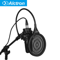 Alctron MPF02 pop filter used in home recording, studio recording, stage performance, dual metal material with new design clamp