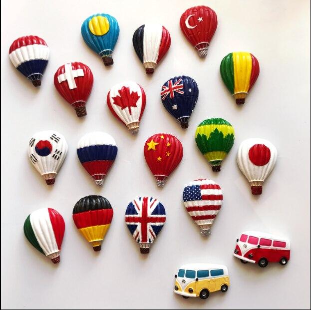 Лидер продаж своих шар с страна мультфильм Магниты на холодильник творческий художественный мини-холодильник Стикеры интересные дома ...