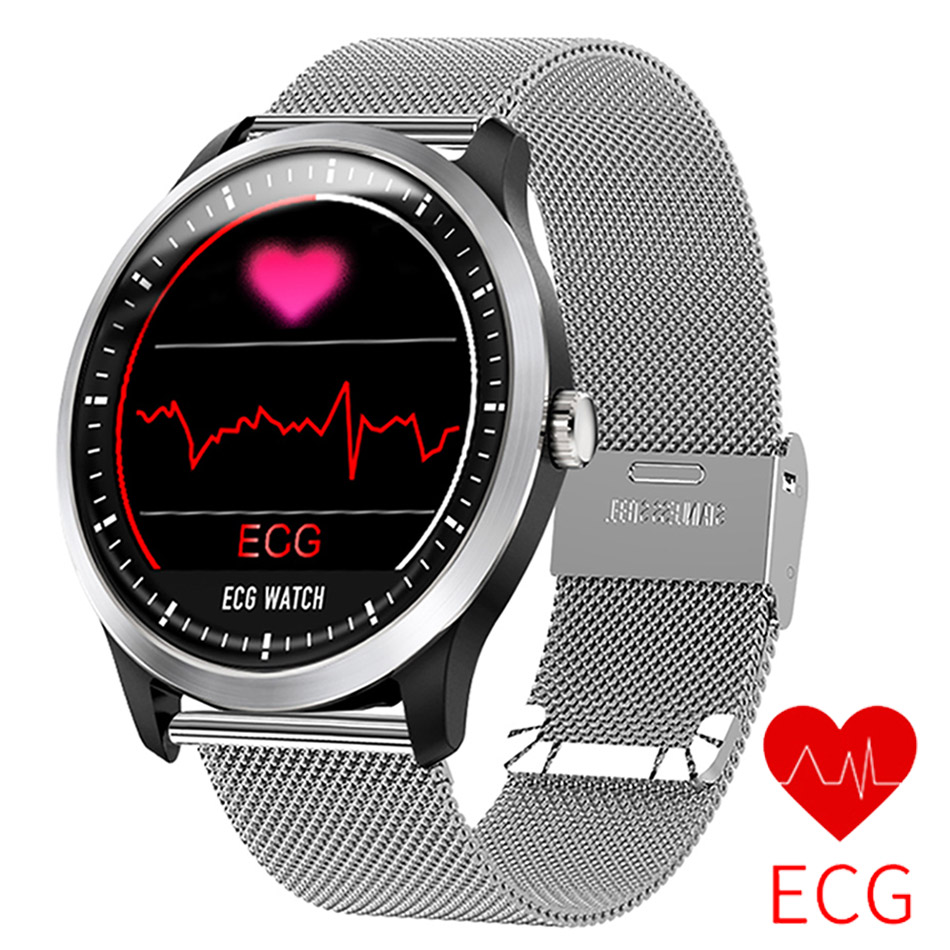 ECG PPG Smart Watch Men Women Electrocardiograph Display Heart Rate Monitor Blood Pressure Health Sport Watch For Android IOS