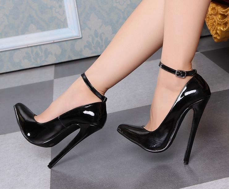 Alternative Queen Super Sexy Black High Heels Shoes 16Cm -2938