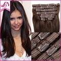 Clip In Remy Human Hair Extensions Full Head Virgin Malaysian Clip In Hair Extension Dark Brown Colored Clip In Hair Extensions