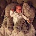 Bonito Elefante de Brinquedo De Pelúcia Com o Longo Nariz Almofadas PP Cotton Stuffed Elefantes Do Bebê Macio Do Bebê Brinquedos 60 cm