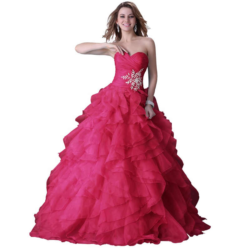 Crvena plava Žuta Šifon Vintage Style Vestido De Noiva Dubai Party Sparkly Beaded Puffy Tiered Ball Gown Bridal Dress 1207H