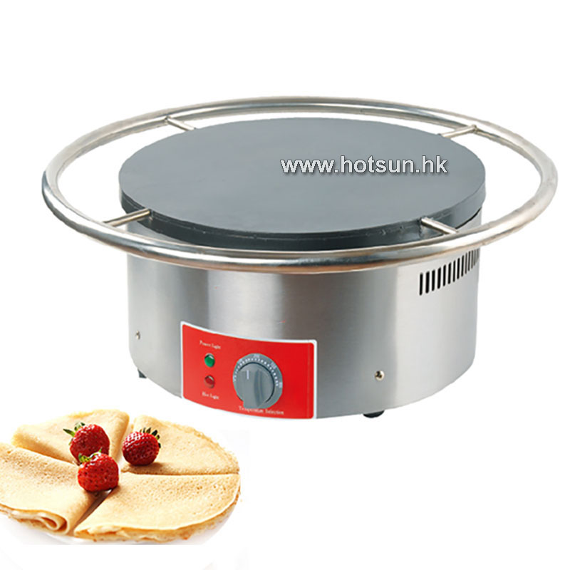 45cm Commercial Heavy Duty Non-stick Pancake Maker Crepe Making Iron Baker Mold Plate Ma ...
