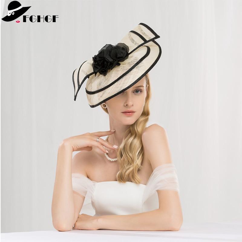 Sinamay larme Fascinators bandeau chapeaux Derby course chapeau chapeaux de fête de mariage