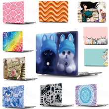 цена Print Animal Cover Case For Macbook Air 11 13 Pro 12 13 15 Laptop Sleeve Shell For Apple Mac book 11.6 13.3 15.4 Touch Bar онлайн в 2017 году