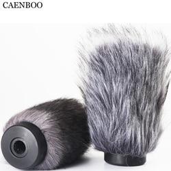 CAENBOO odkryty Furry pokrywa szyby przedniej szyby mikrofon Deadcat wiatr tarcze wymiana WS6 dla RODE NTG1 NTG-1