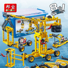 Model building kits compatible with lego city Science power generating machine 3D blocks Educational model toys hobbies