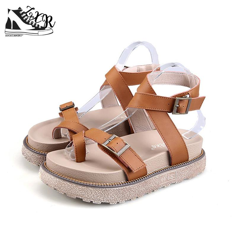 Zuoxiangru Women Sandals Casual Summer Shoes Mujer Gladiator 3 Colors Female Plus Size Ladies Sandle
