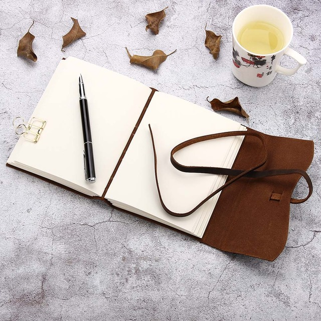 Leather journal travel notebook 3