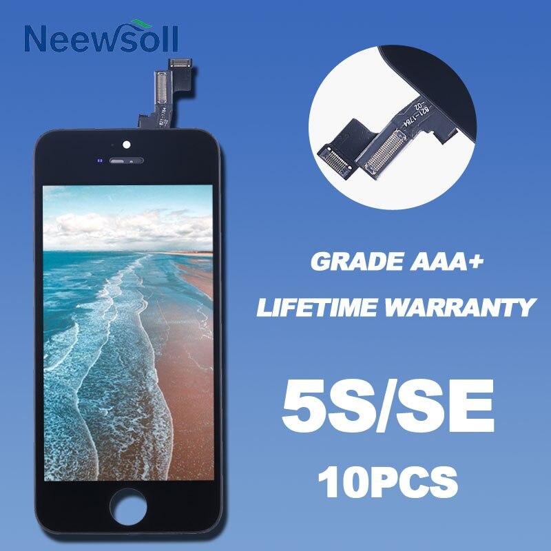 10 PZ/LOTTO Display LCD Per iPhone 5 S SE Touch Screen Con Sostituzione Digitizer Assembly DHL LIBERA il Trasporto I5S/SE-W