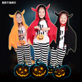 Halloween Devil horns Punpkin Picture children Hooded shawls cosplay cape High Quality kids clothes Free shipping E1365