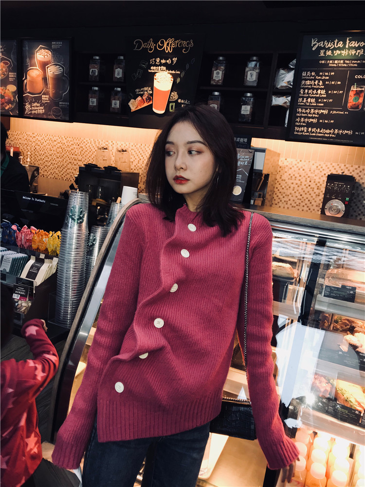 Irregular Sweater Women Autumn Winter 2019 New Short-style Knitted Sweater Cardigan Net Red Sweater Cardigans Sweaters Women