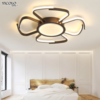 coffee white led Ceiling Lights Led Lamp Ceiling Lustre Remote Control Dimming Lighting Fixture Living Room Bedroom Dining Room