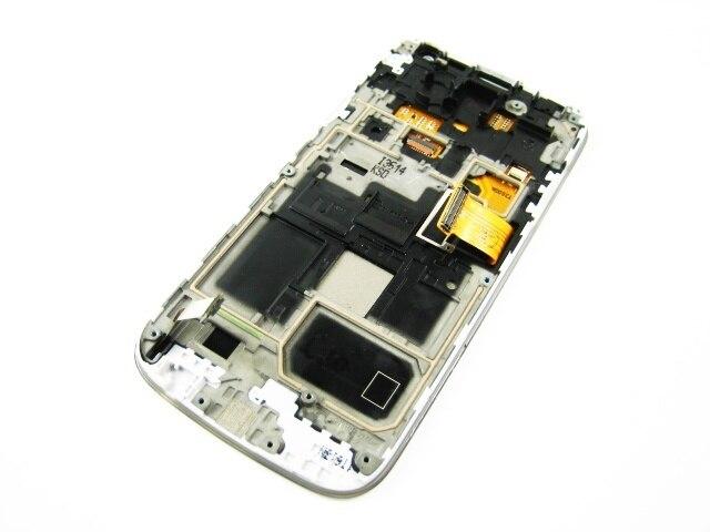 Замена Полный AMOLED Дисплея LCD + Сенсорный Экран Digitizer + Рамка для Samsung Galaxy S4 SIV mini GT-i9190 i9195 Белый