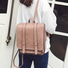 2016 Mode nouveau femmes voyage sac à dos Étudiants de Haute Qualité Pu En Cuir sac à dos femmes École D'épaule Sacs Mochila