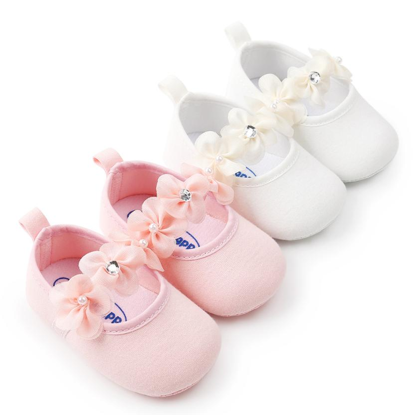 Baby Boys  Girl Shoes Fashion  Summer Newborn Infant Baby Girl Flower Princess Shoes Soft Sole Anti-slip Sneakers  Uk  M12