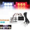 12V 3x6 LED Strobe Emergency Flashing Beacon/Strobe Warning Grill Light Emergency Lighting Lamp Red+White