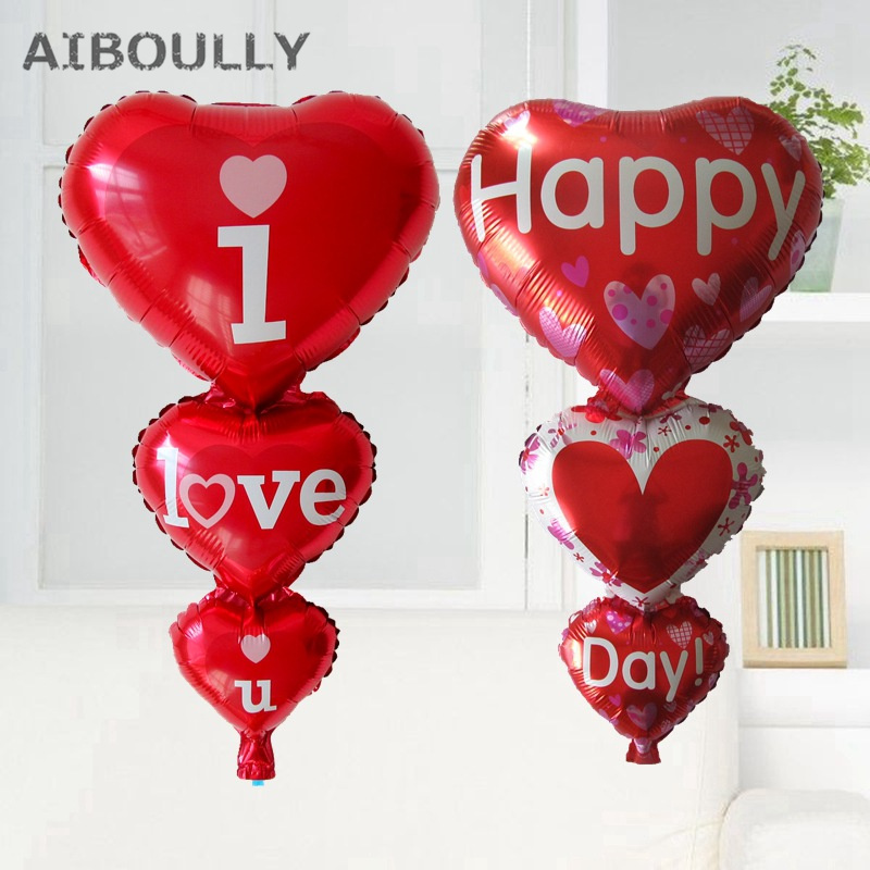 Big Heart Baloon I Love You Happy Day Balloons Party Decoration Engagement Anniversary W ...
