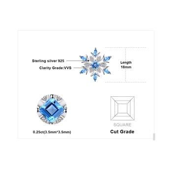 Snowflake Natural Topaz Pendant  Sterling Silver Gemstones Statement Necklace  4