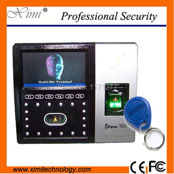 Standalone Iface702 face fingerprint scanner access control TCP/IP 125KHz read reader  electronic equipment attendance machine
