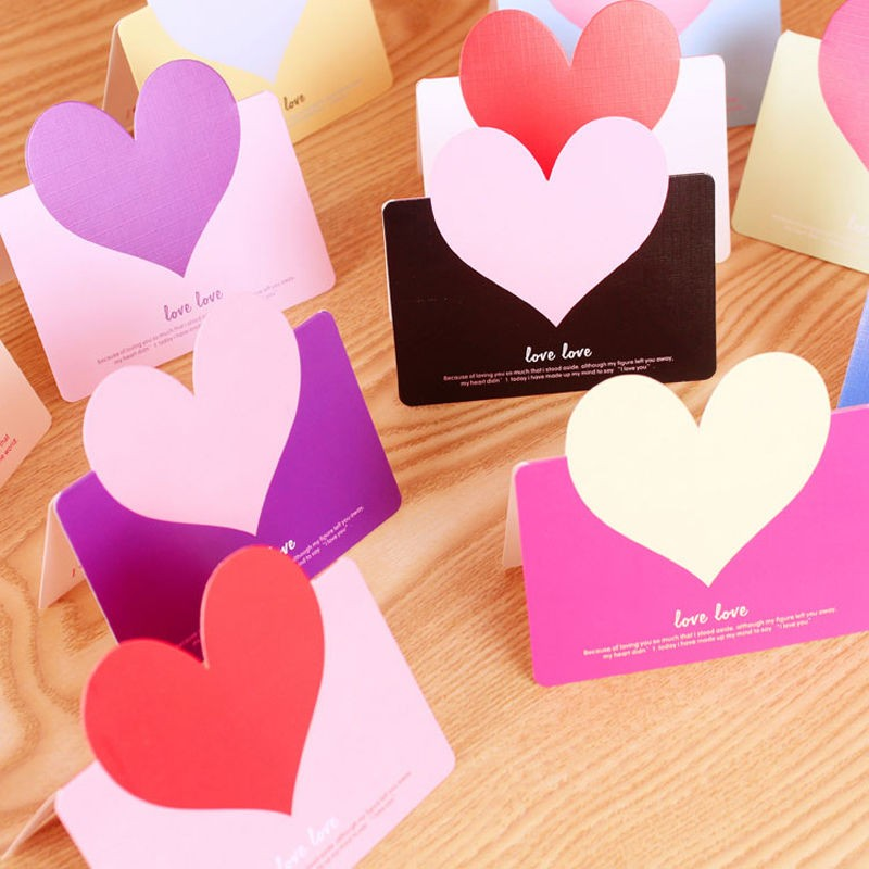 Aliexpress buy 5pcs heart shape greeting cards cute lovely aliexpress buy 5pcs heart shape greeting cards cute lovely christmas birthday wedding greeting message card with envelope surprise gifts cards from m4hsunfo