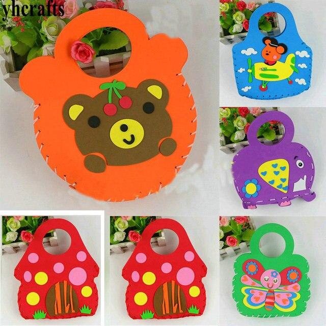 8pcs Lot Diy Foam Kids Handbag Craft Kits Handy Gifts Bag