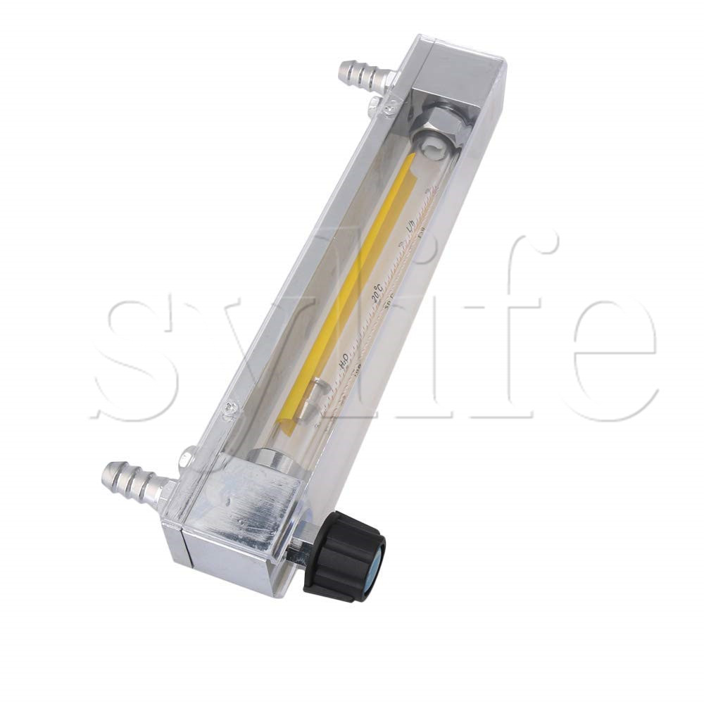 LZB-10 16-160L/h Clear Plastic Tube Flow Meter for Water Liquid Flowmeter Fit for 12mm Hose lzb 25 glass rotameter rotor flowmeter for liquid