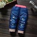 Бесплатная доставка 2017 новых зимних девочек характерно бутик джинсы точки сладкий хлопок трусы