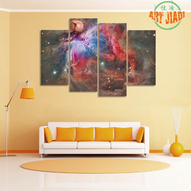 Orion Nebula 4 Pieces/sets Canvas Art Canvas Paintings 4 Panels HD ...