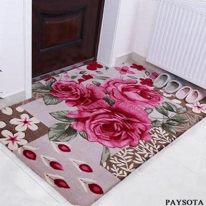 Paysota Korea Style Rose Karpet Ruang Tamu Sofa Dapur R Tidur Balkon Ketagihan Minuman Keras Non Slip Tikar Di Dari Rumah Taman