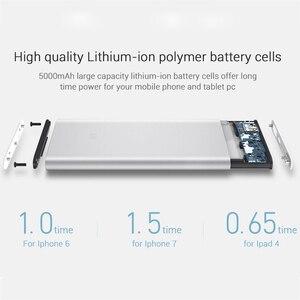 Image 3 - Xiaomi Banco de energía de 5000mAh 2 PLM10ZM, cargador portátil Delgado, Batería Externa de polímero de litio 5000 con funda de silicona