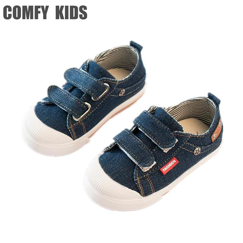 Comfy Kids child sneakers shoes soft bottom boys girls canvas shoes size 21-25 child boys sneakers spring kids sports shoes